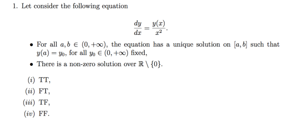 problem solving - Differential equation existence of a ...