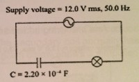 Why does a capacitor in an AC circuit allow a lamp to glow ...