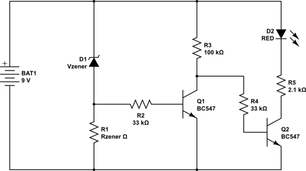 [GH_0506] Low Battery Indicator Circuit Schematic Diagram
