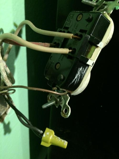 small resolution of electrical how do i install a gfci receptacle to replace an old gfci electrical outlet wiring note ground wires not shown