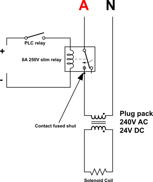 circuit diagram battery direction