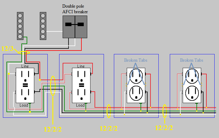 Power Receptacle Wiring Diagram Electrical Circuits In A Workshop Home Improvement Stack