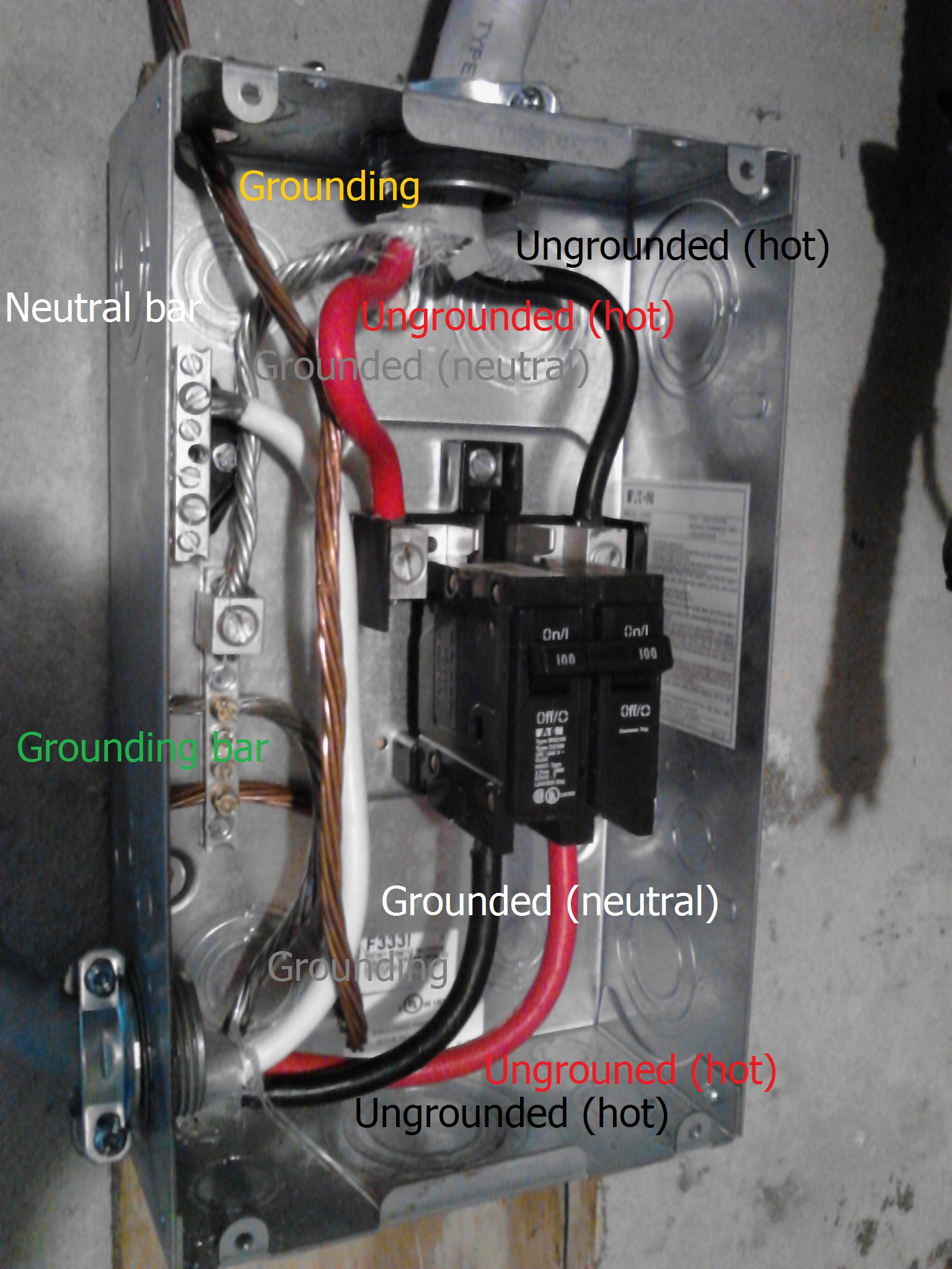 hight resolution of electrical what is wrong with this panel wiring home sub and amp wiring diagram home wiring a sub