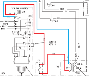 wiring  Help with c wire on American standard air handler