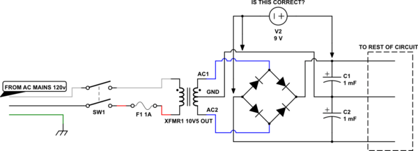 How do I bypass the ac rectifier in a guitar amp so I can