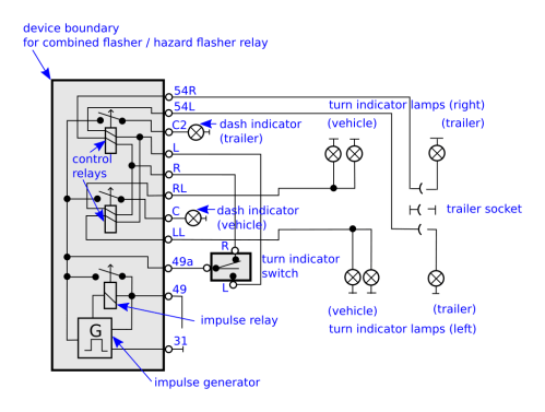 small resolution of how to connect a 11 pin flasher relay so that turn signal dash rh mechanics stackexchange com 2 prong flasher wiring diagram electronic flasher wiring