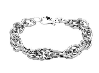 Silver Bracelet Photography with 100% pure white