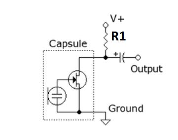 Choosing resistor/capacitor for wiring microphones