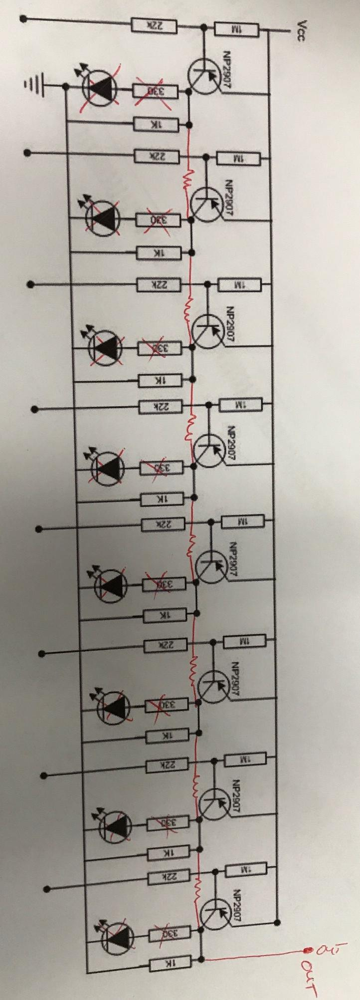 Resistors In A Voltage Divider Circuit To Provide Variable Resistance