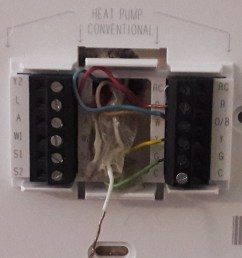 hvac converting from a trane xt500c ac thermostat to honeywell wiring honeywell thermostat trane heat pump [ 1029 x 1101 Pixel ]
