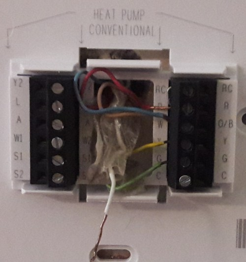small resolution of hvac converting from a trane xt500c ac thermostat to honeywell wiring honeywell thermostat trane heat pump