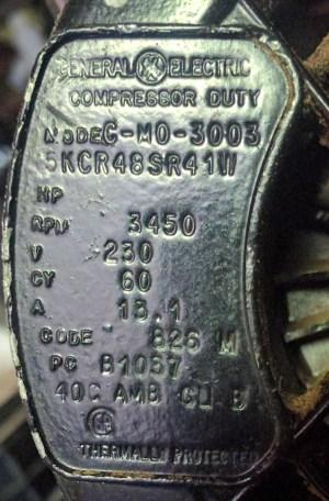 appliances  Powering a 240V 15A air pressor with a 6