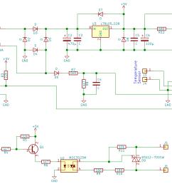 schematic of heater power board control triac reverse engineering zero crossing [ 2176 x 1304 Pixel ]