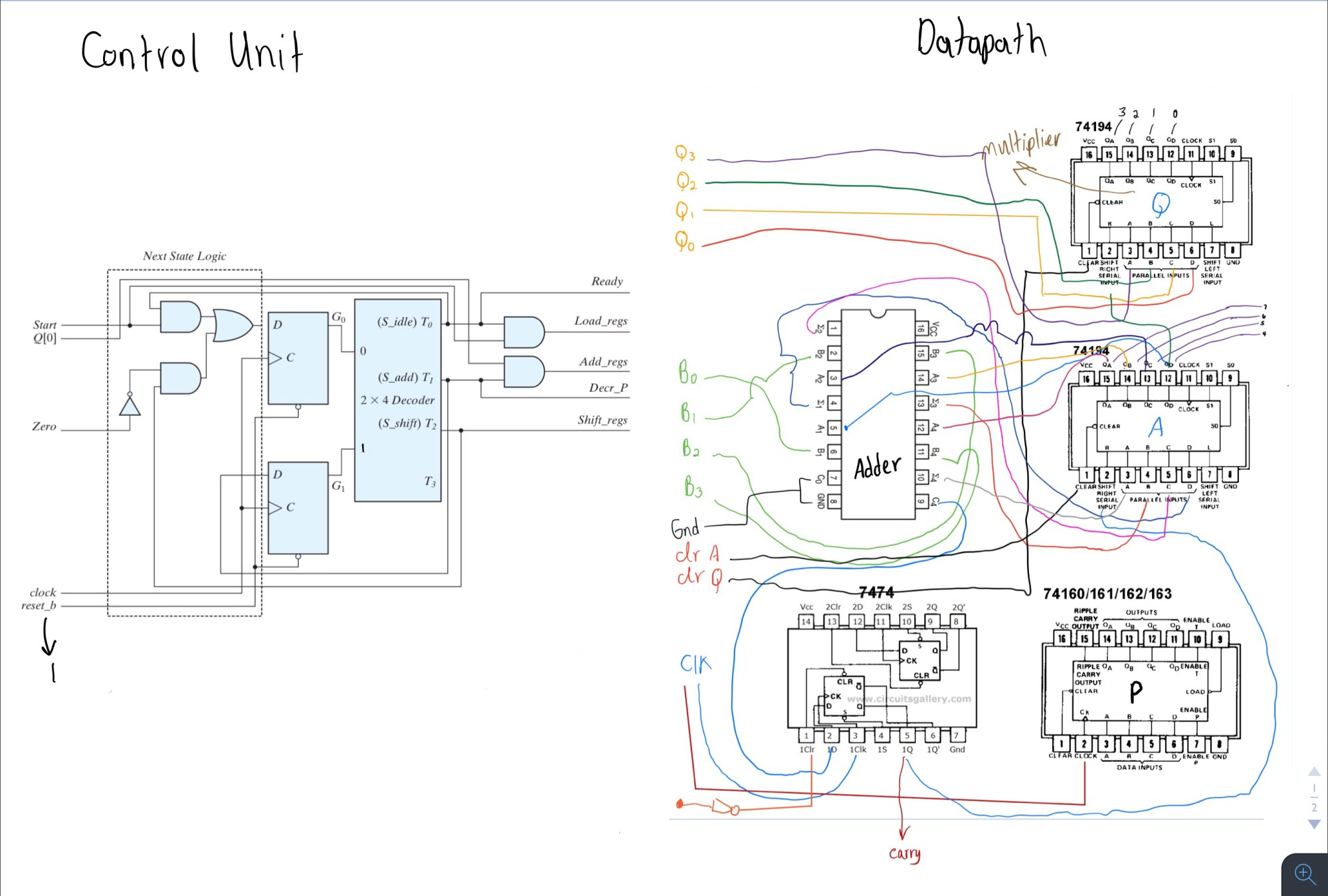 hight resolution of circuit trying to implement