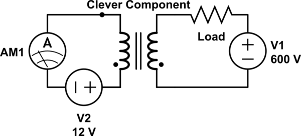 High voltage DC current measurement by inductance