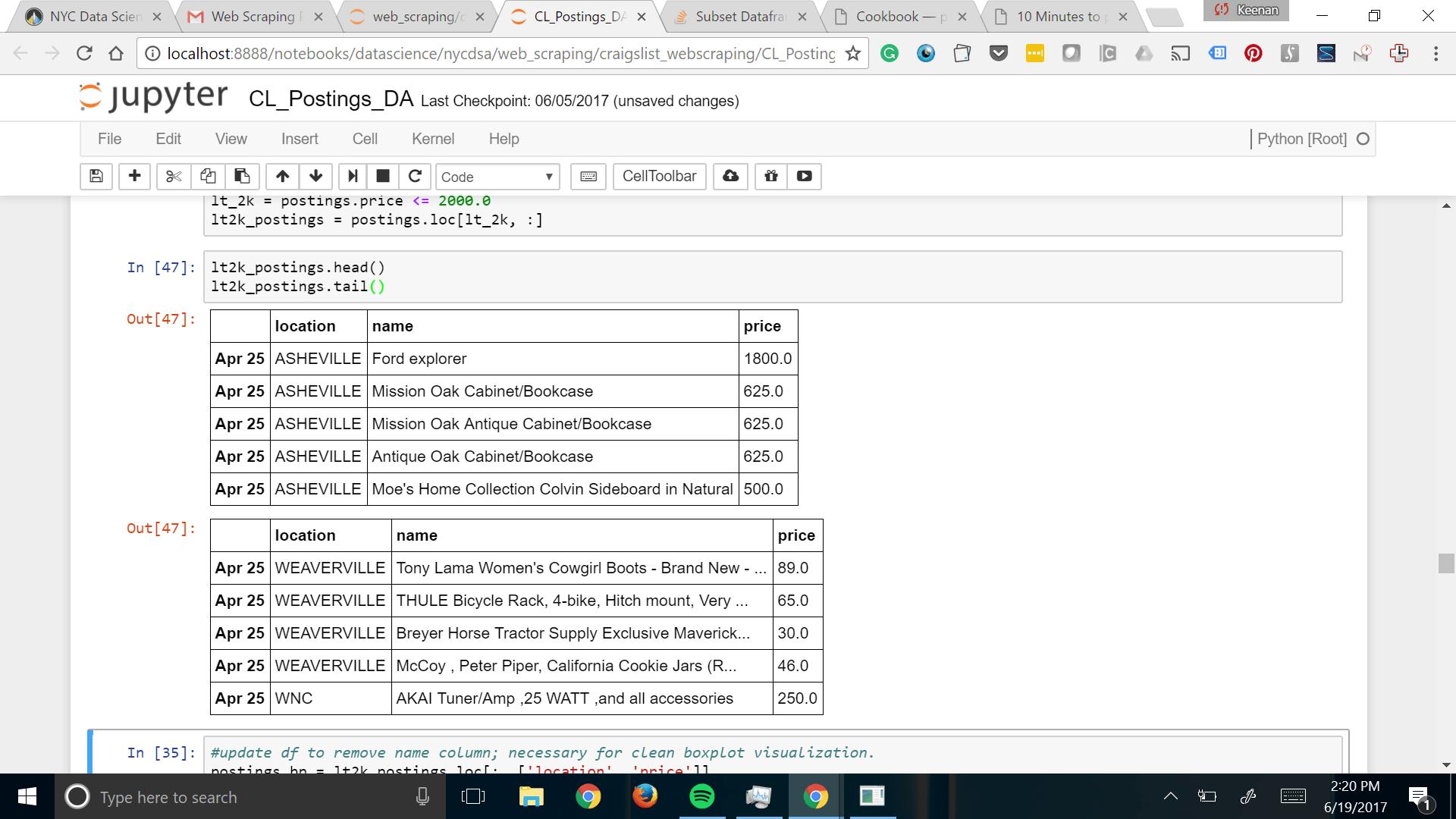 Subset Dataframe by Filtered Column (Python) - Codedump.io