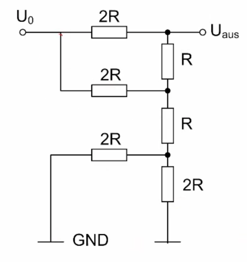 Proving the output voltage of a resistor ladder only with