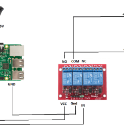 control 12v pump with raspberry pi through relay [ 1134 x 718 Pixel ]