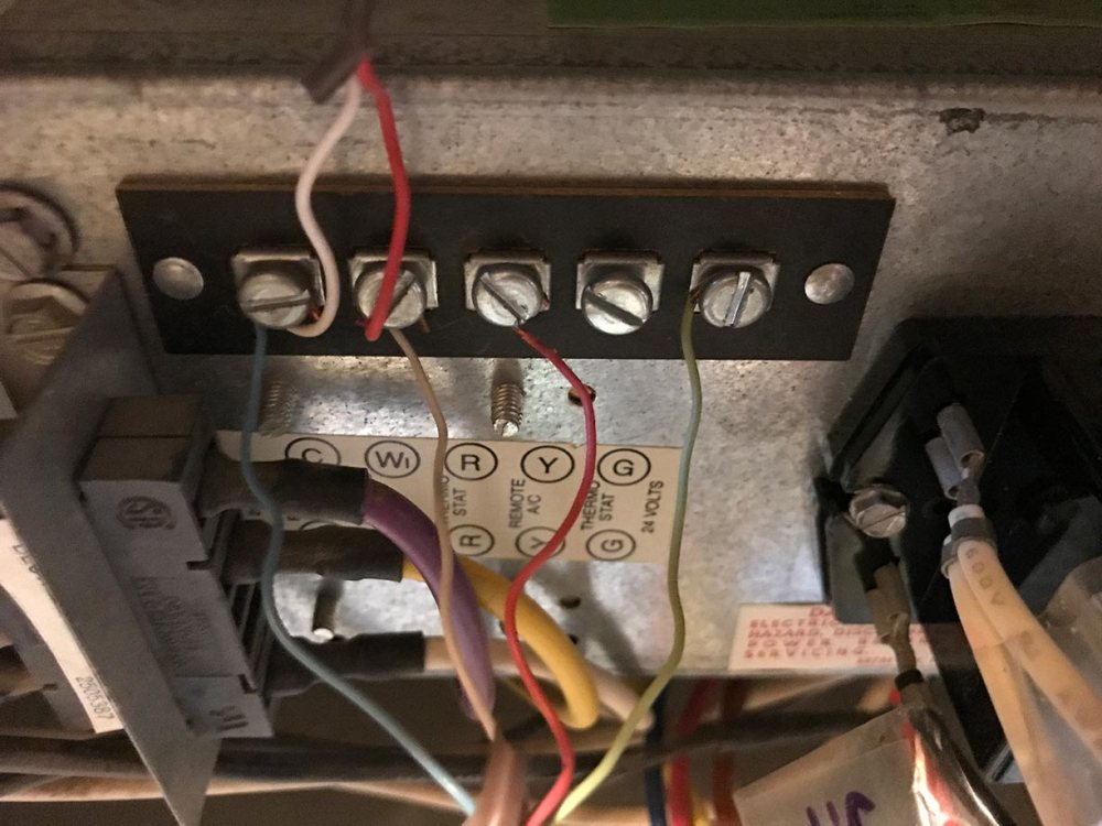medium resolution of furnace side thermostat side