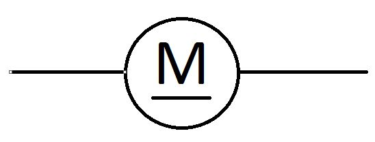 schematic wiring diagram symbols diary of a wimpy kid plot unknown symbol on circle with m underlined enter image description here