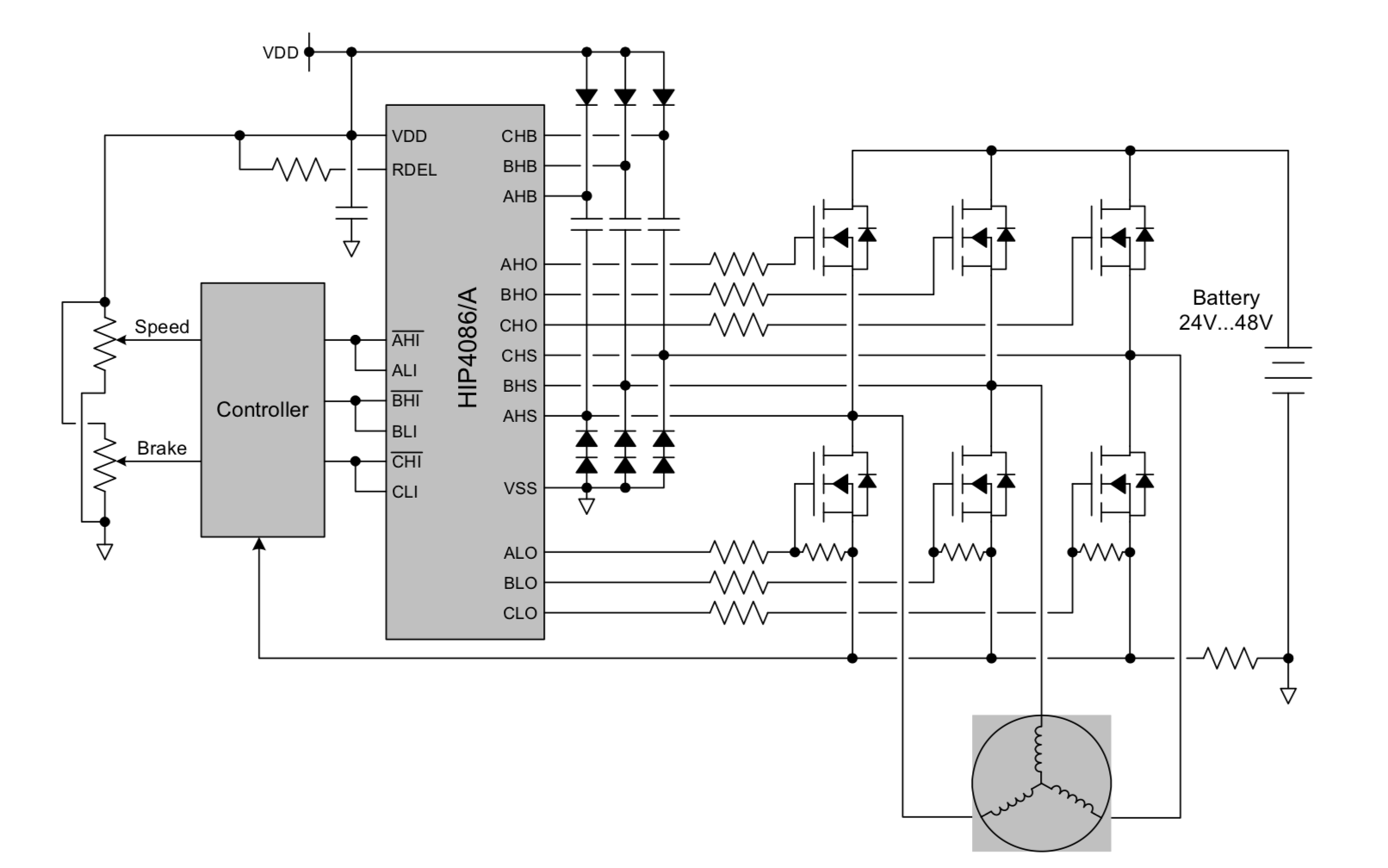 hight resolution of bldc motor controller circuit