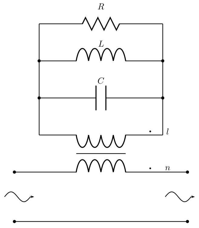 How to draw an inductive coupling with circuitikz and TikZ