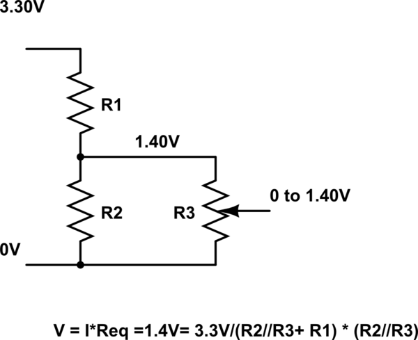 Voltage drop using resistor divider for ADC sensing