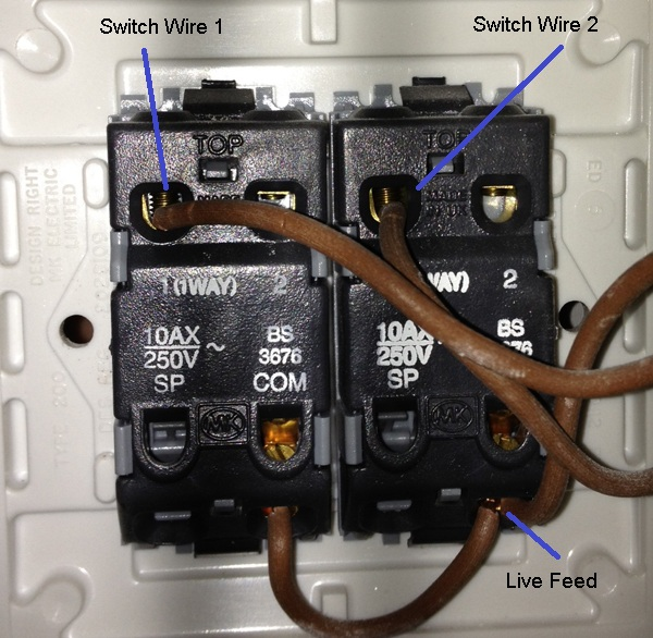 Switch Outlet With 3 Wires On Switch Wiring Diagram 2 Gang One Way