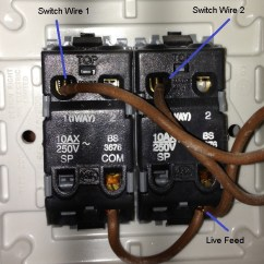 2 Gang Way Light Switch Wiring Diagram Uk Carrier Programmable Thermostat Electrical - How To Replace A Standard 2-gang ...