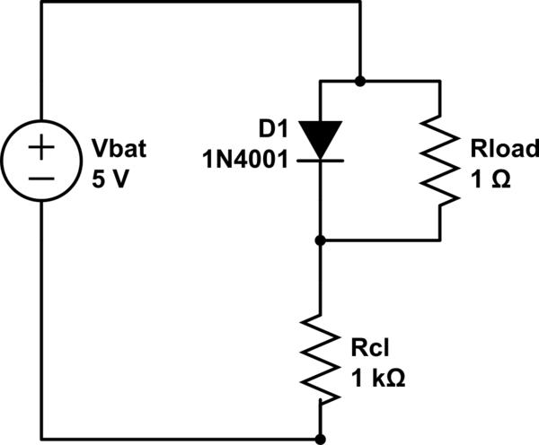 Regular (not Zener) Diode as Voltage Regulator