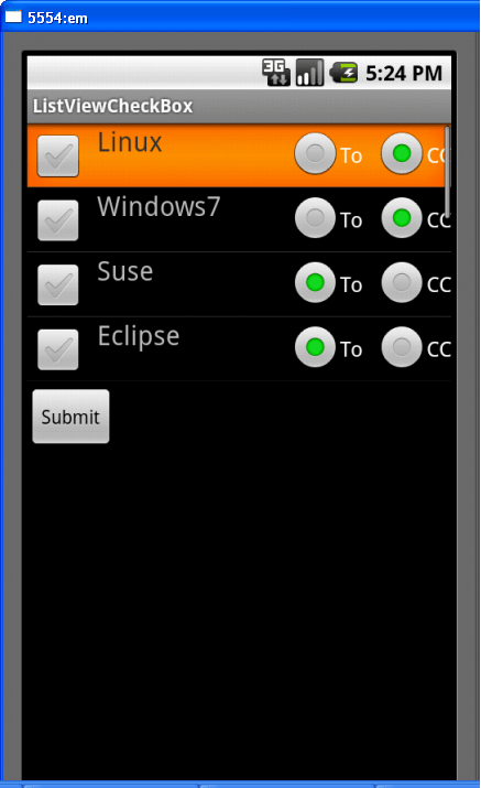 program layout