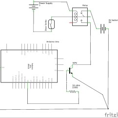 Electric Strike Wiring Diagram Human Respiratory System Labeled Problem With Connecting The Arduino 12v Door