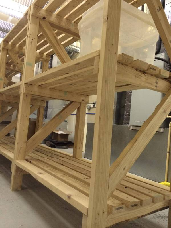 DIY Wood Storage Shelf
