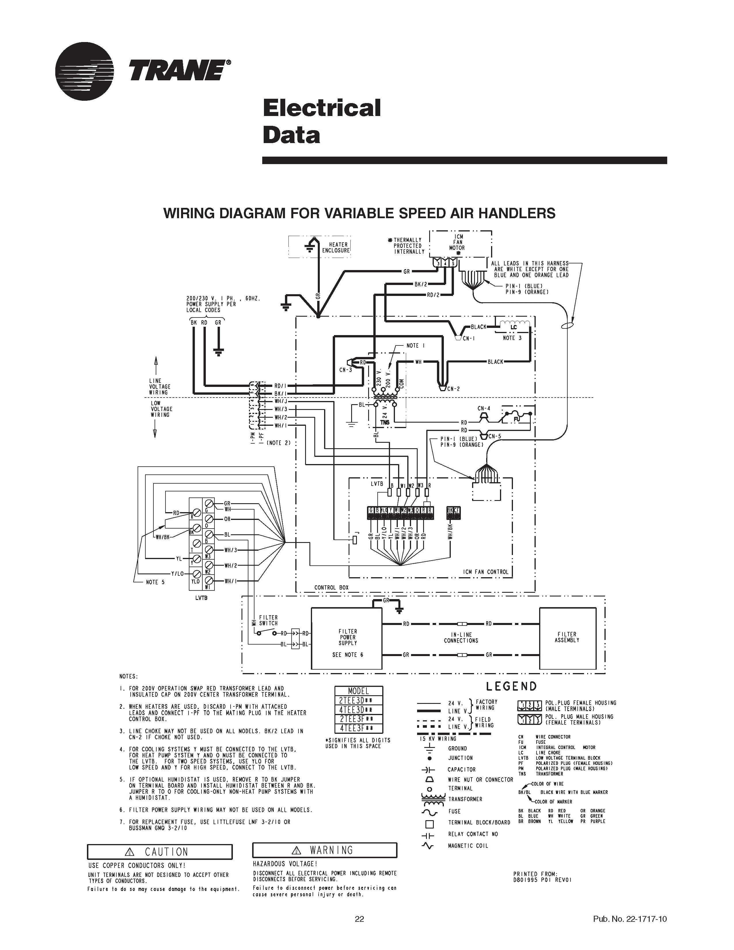 trane air conditioner wiring diagram bargman 7 pin diagrams handler gam5 best