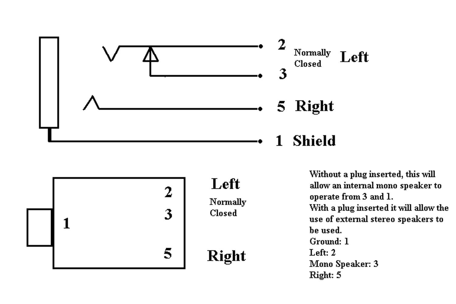 4 conductor audio jack diagram