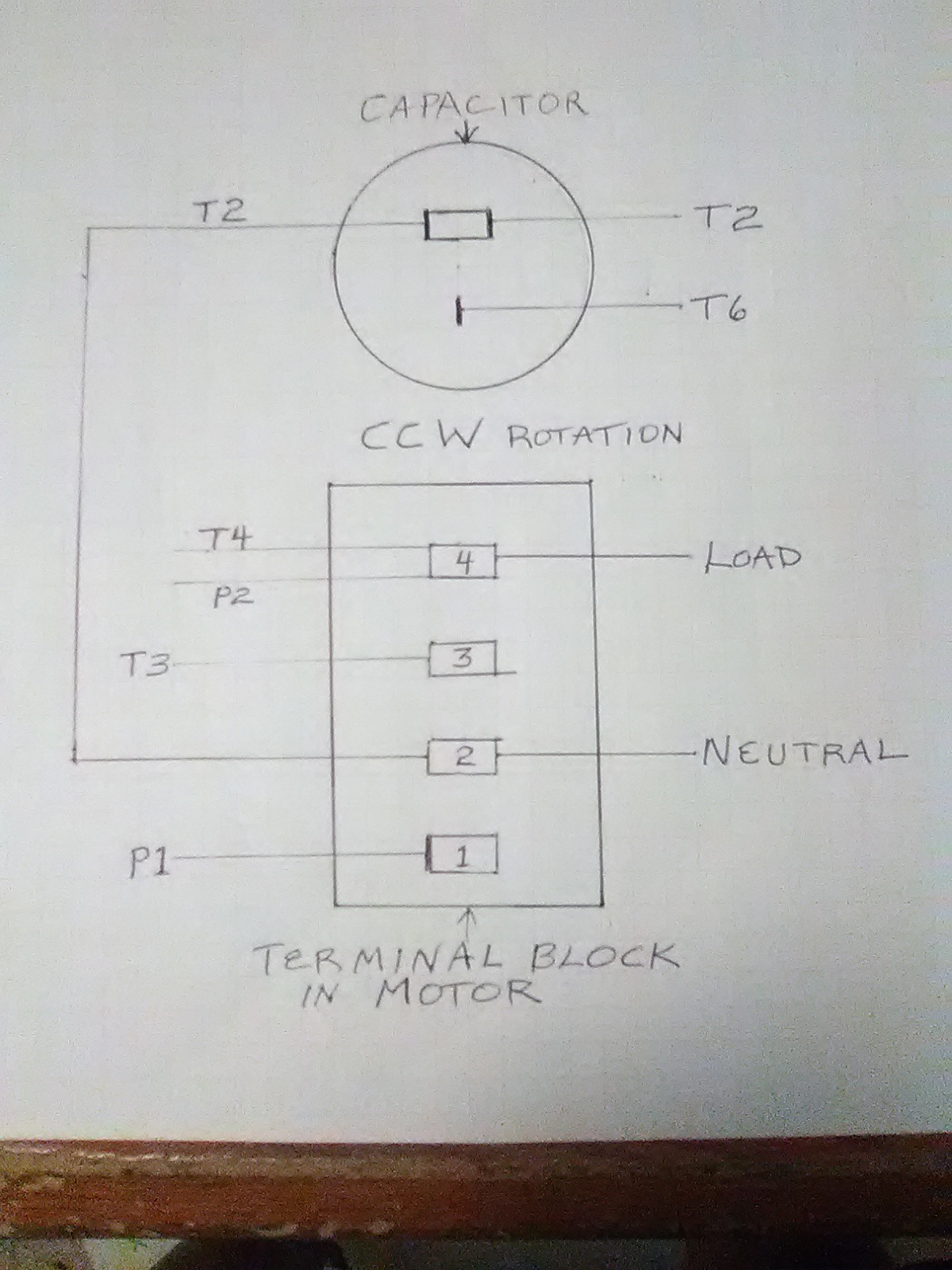 Capacitor Start Motor Wiring Diagram : capacitor, start, motor, wiring, diagram, Wiring, Electric, Motor, Without, Plate, Diagram, Information,, Other, Running, Electrical, Engineering, Stack, Exchange