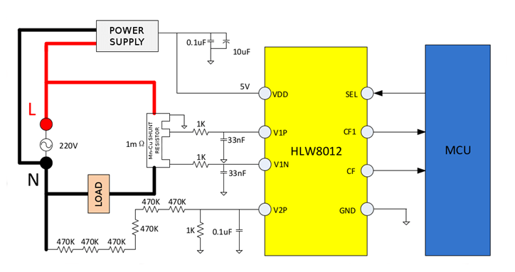 Ac Power Monitor Circuit Schematic