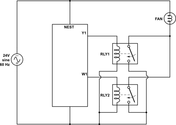 Circuit to make Nest thermostat think there are separate