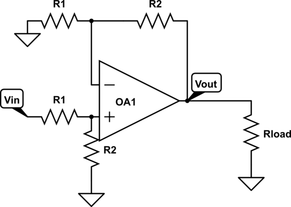 Differential Amplifier to Scale Down DC Voltage