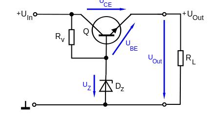 Voltage regulator transistor circuit analysis (question