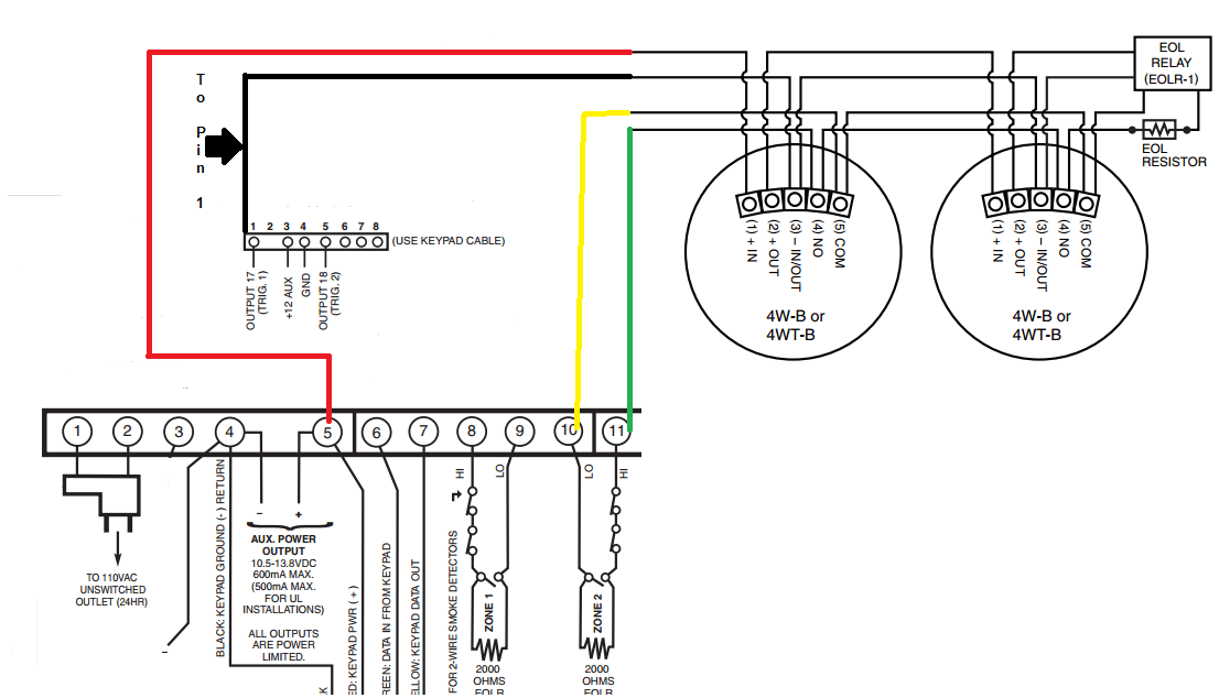 4 Wire Smoke Detector Wiring Diagram Smoke Alarms In