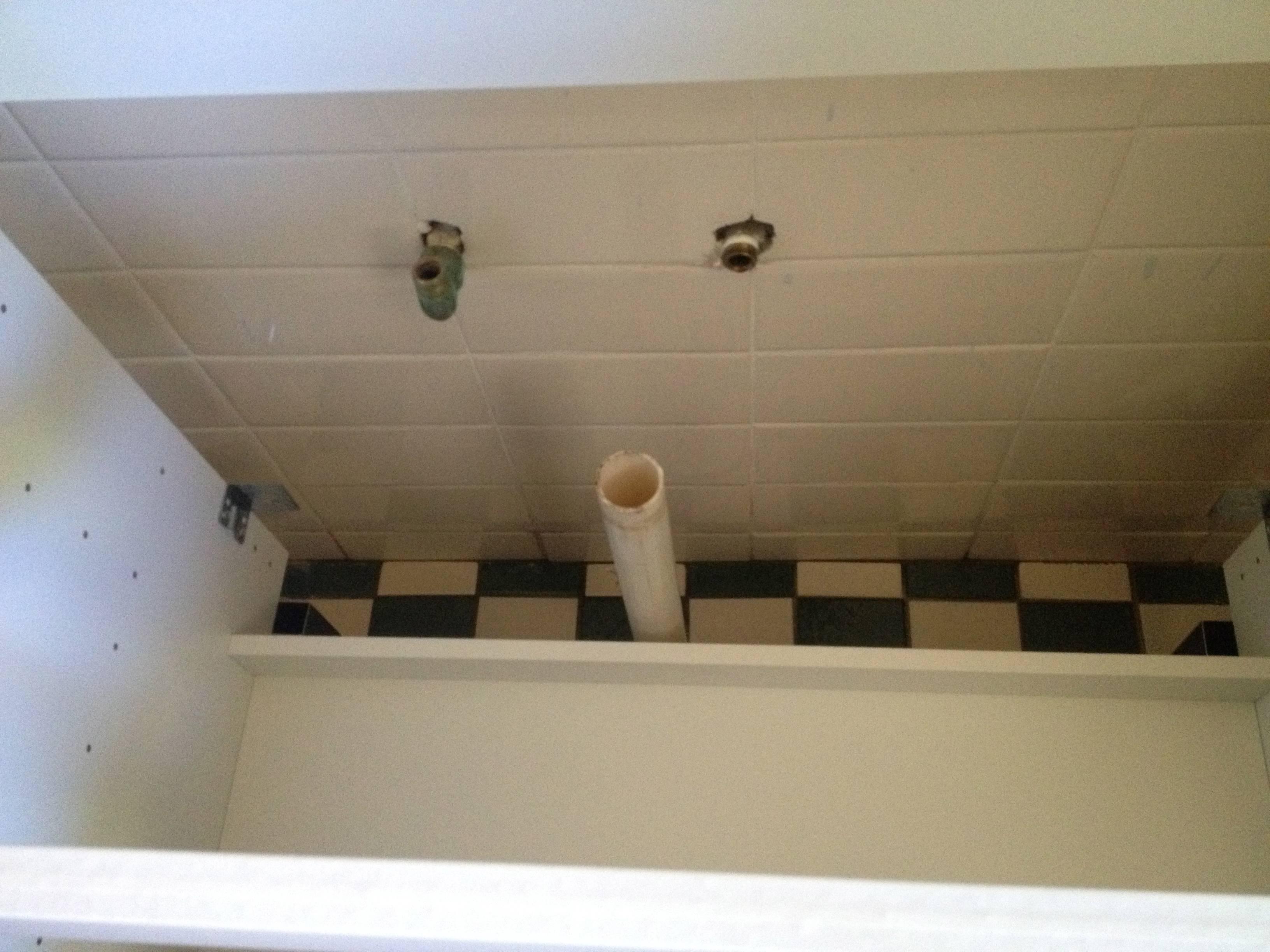 Diagram For Sink Plumbing Floor Plumbing Pipe Too Far Away From The Wall For Vanity