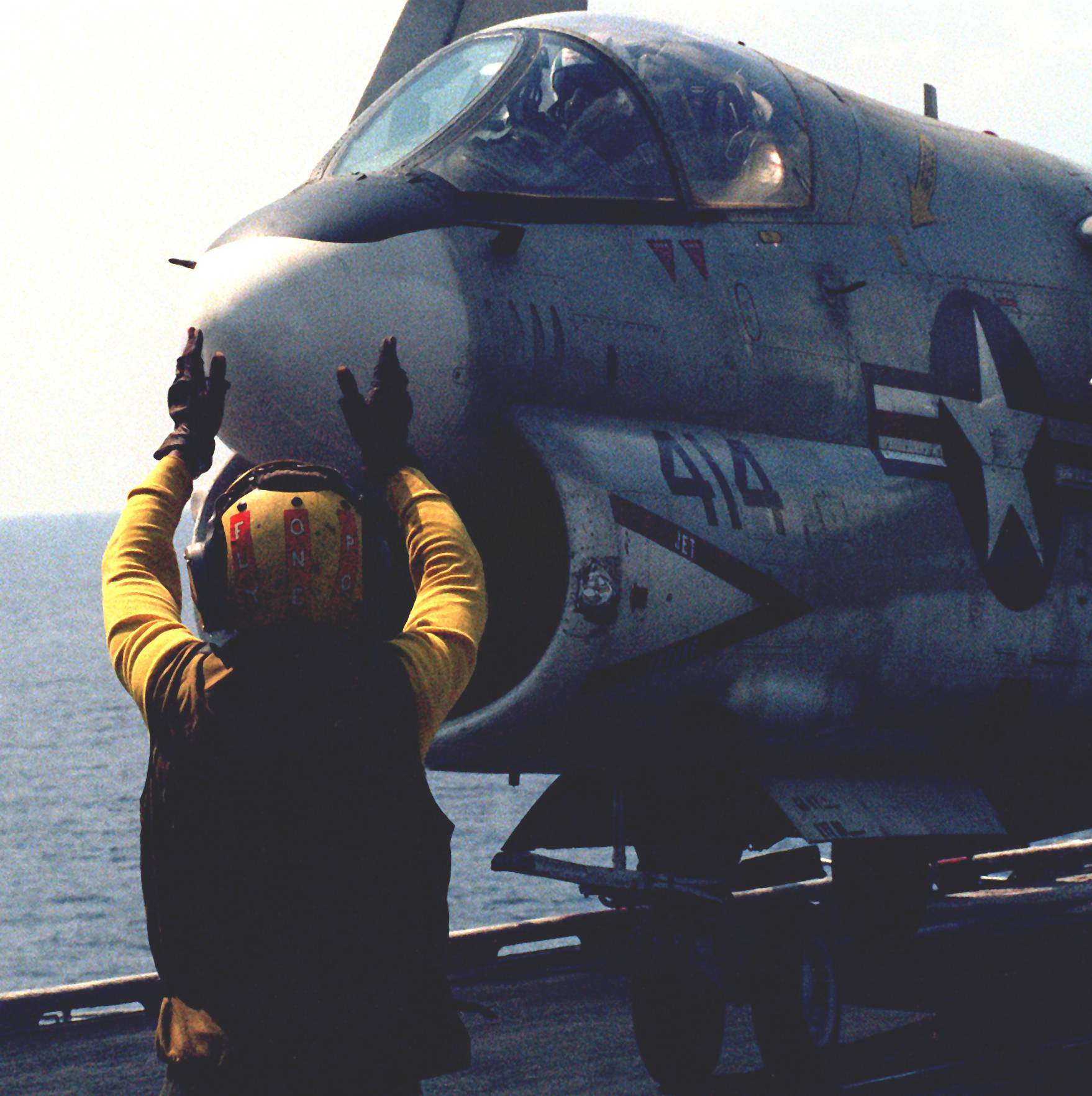 hight resolution of a7 e on the carrier deck