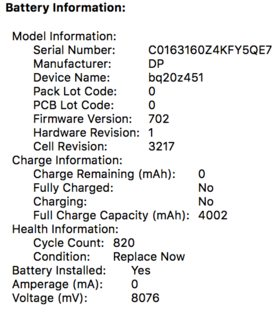 0 amperage macbook battery 06 ford f150 fuse box diagram hardware pro and wrong date ask different enter image description here