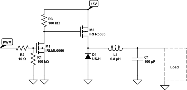 Simple High-side Load Switch For Grounded Loads