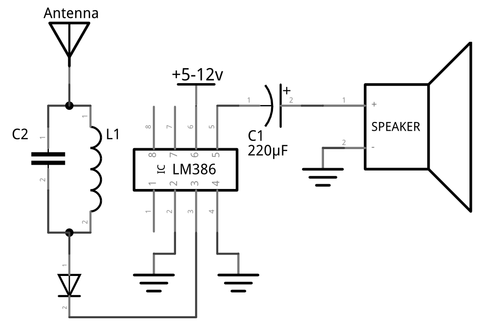 Why will I hear noise from the speaker when I use LM386 to