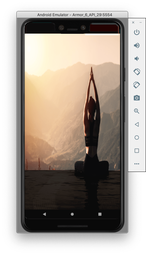 stretched screen image
