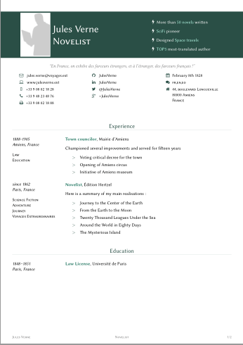 Resume Template Sharelatex