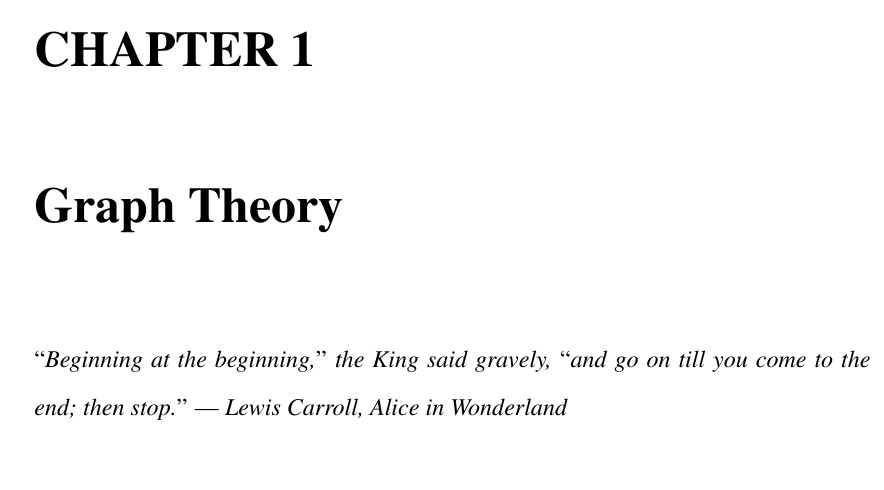 "Quoting ""Inspirational"" Quote At Start Of Chapter TeX LaTeX"