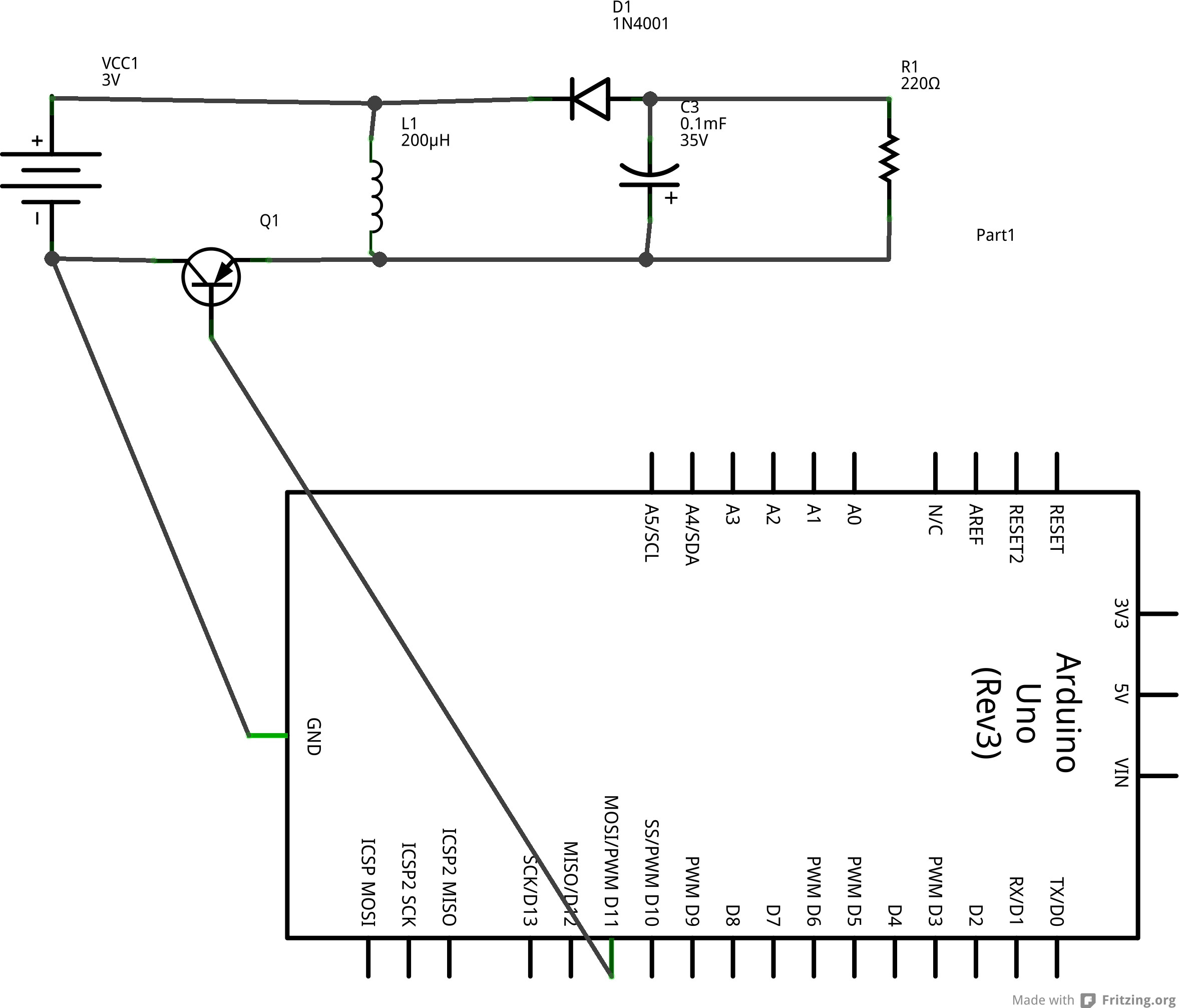 circuit diagram of buck boost converter 2004 chrysler pacifica wiring inductor arduino connecting load makes enter image description here a schematic